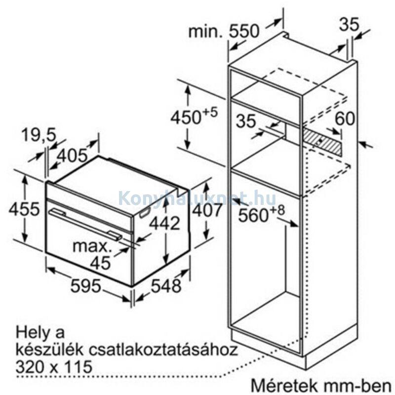 BOSCH CDG634BS1 Beépíthető gőzpároló