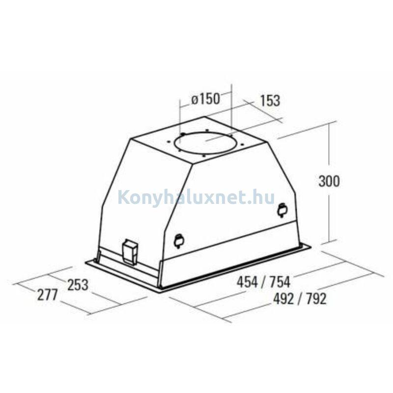 CATA GC DUAL 75 WH LED Kürtőbe építhető páraelszívó