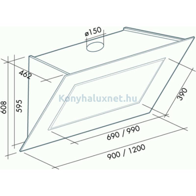 FALMEC Kürtős Páraelszívó Quasar Glass 120
