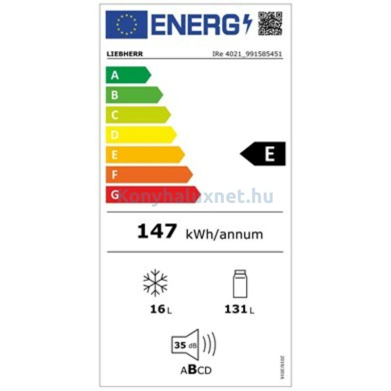 LIEBHERR IRe 4021 Plus beépíthető hűtőszekrény EasyFresh funkcióval belső fagyasztóval 102cm