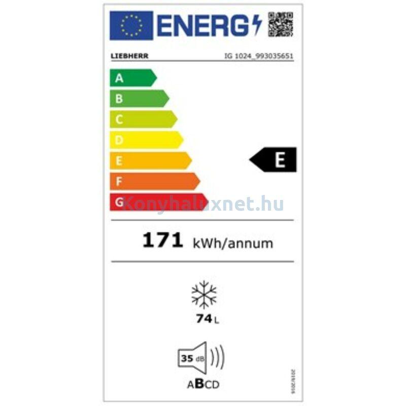 LIEBHERR IG 1024 Comfort Integrálható beépíthető fagyasztó SmartFrost funkcióval