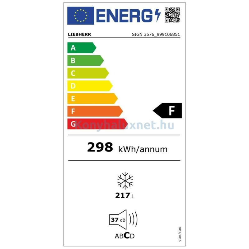 LIEBHERR SIGN 3576 Premium Integrálható beépíthető fagyasztó NoFrost funkcióval