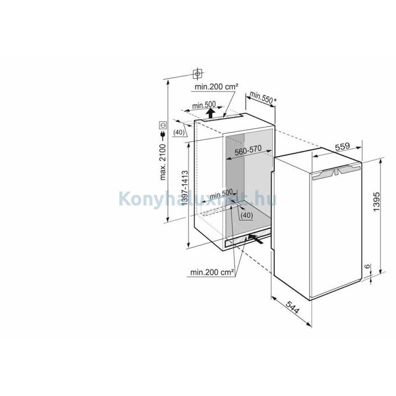LIEBHERR SIGN 2756-20 Beépíthető Fagyasztószekrény