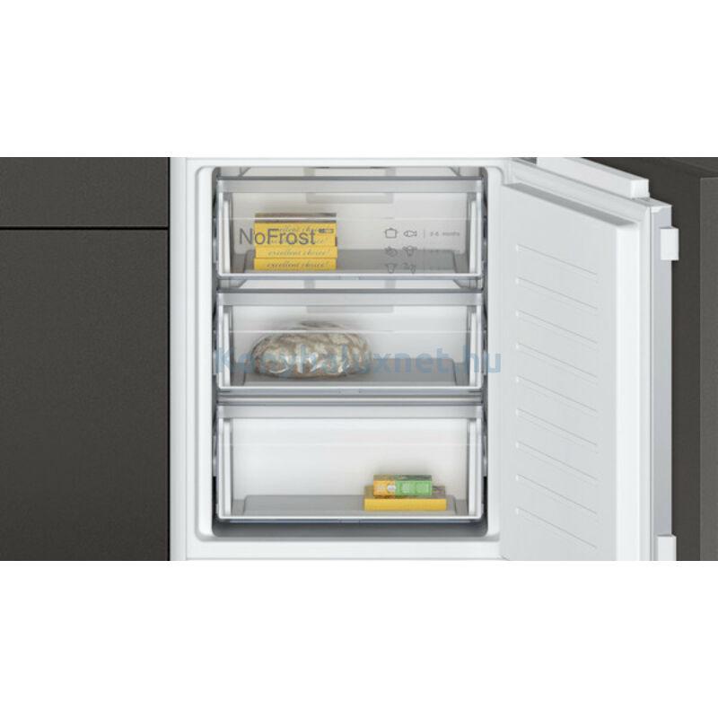 Neff KI7862FE0 N50 beépíthető alulfagyasztós hűtőszekrény NoFrost Line