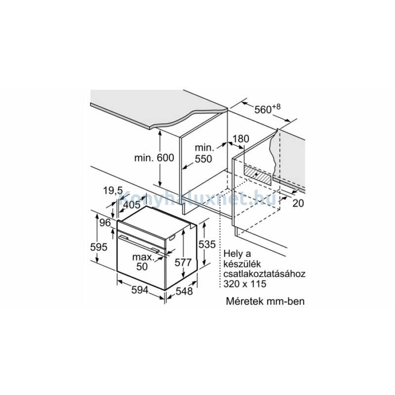 Neff B5AVM7HH0 N50 beépíthető sütő gőzfunkcióval