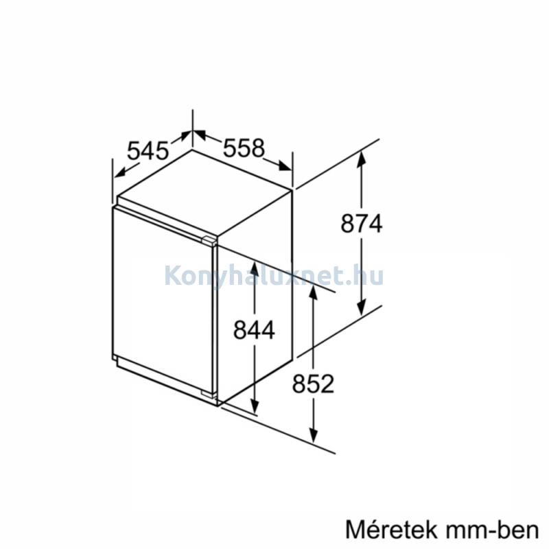 Neff GI1213D30 beépíthető  fagyasztószekrény