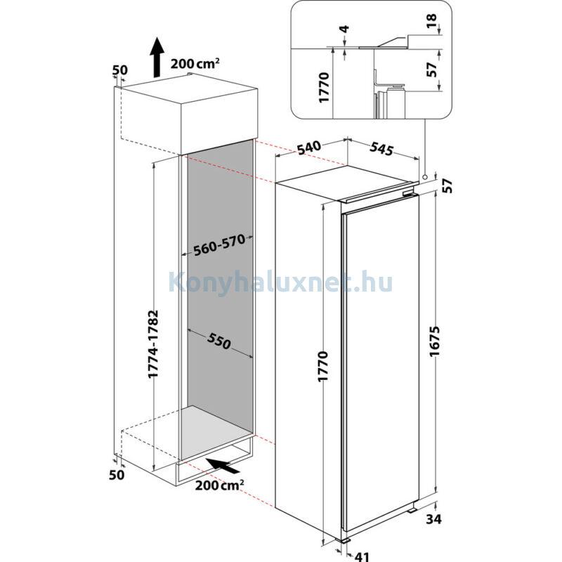 Whirlpool ARG 180701  Beépíthető hűtőszekrény