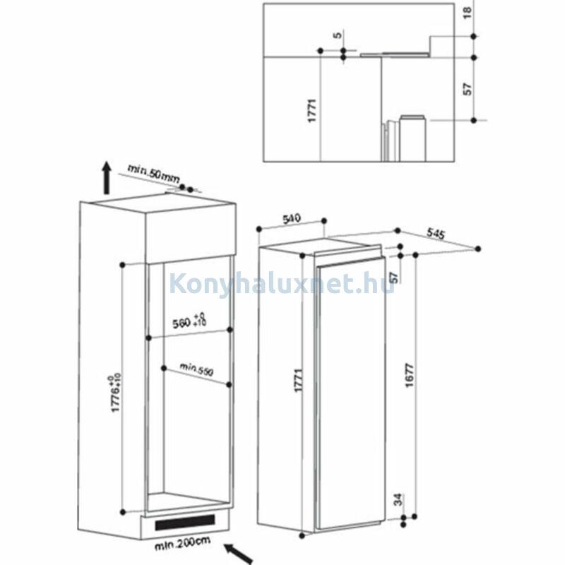 Whirlpool ARG 184701  Beépíthető hűtőszekrény