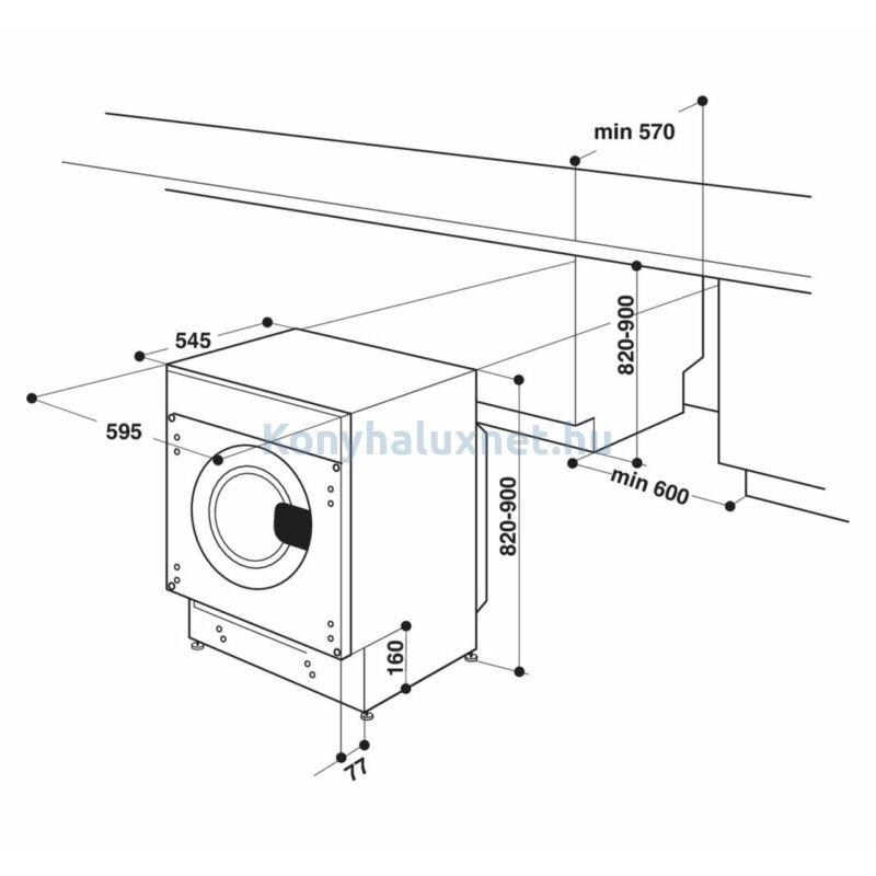 Whirlpool BI WDWG 751482 EU N beépíthető mosó-szárítógép 7/5kg