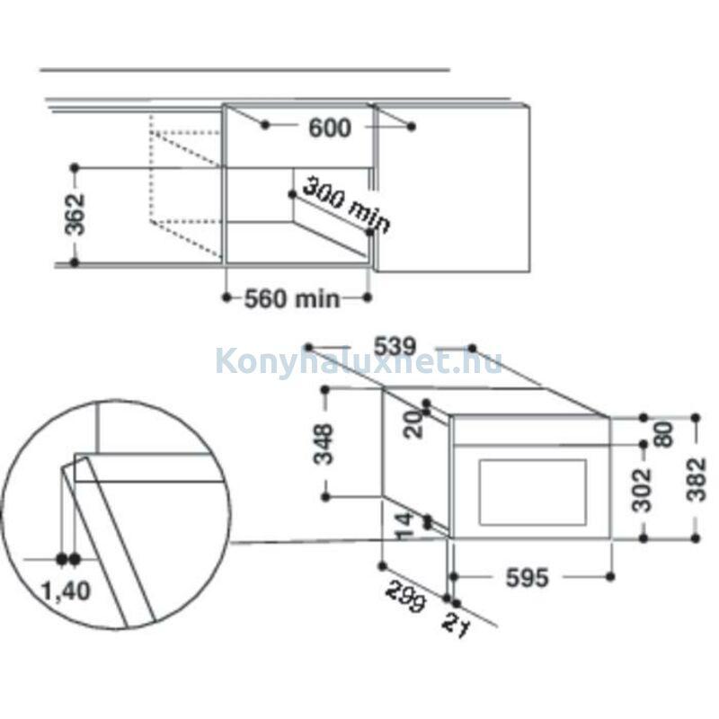 Whirlpool AMW439NB Beépíthető mikrohullámú sütő