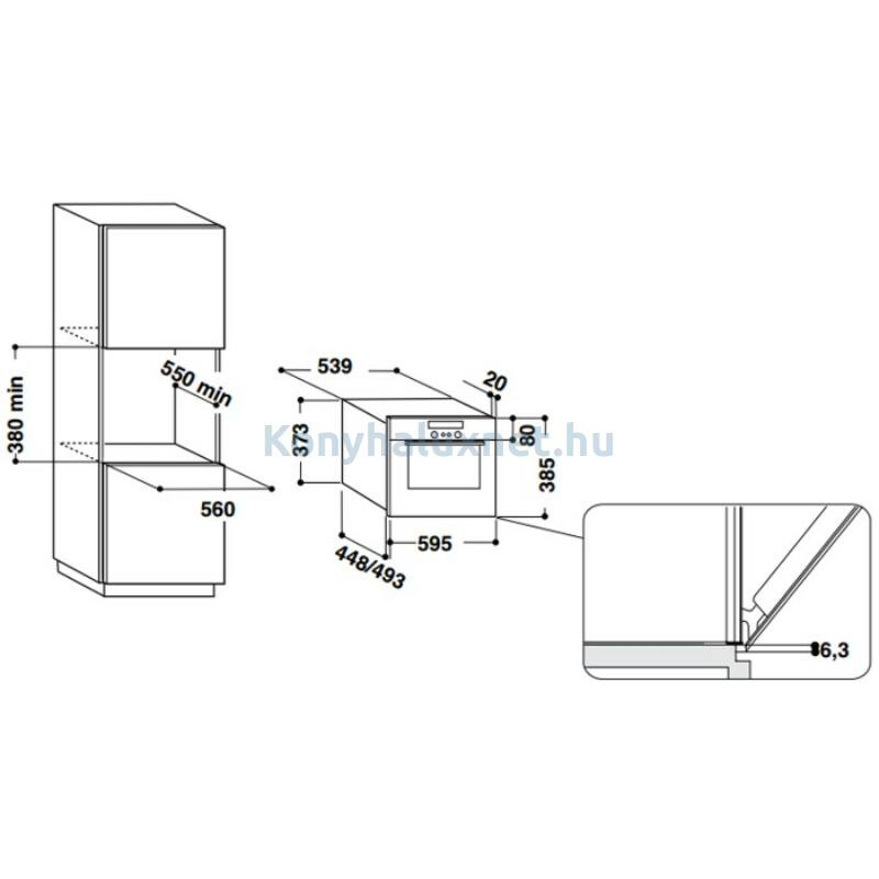 Whirlpool AMW730NB Beépíthető mikrohullámú sütő
